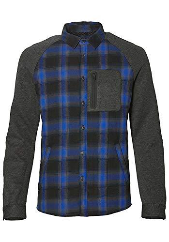 O'NEILL Chemise Longue Violette pour Homme - T-Shirt LS - Noir/Gris - Taille M
