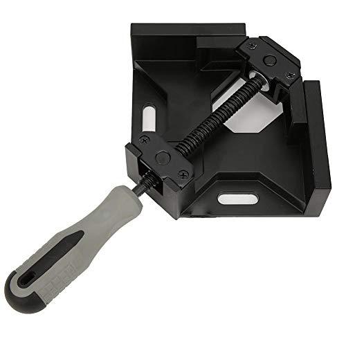 Winkelklammern, 90-Grad-Eck-Einhand-Eckklemme aus Aluminiumlegierung für die schnelle Holzbefestigung, Schweißvorrichtung(Schwarz)