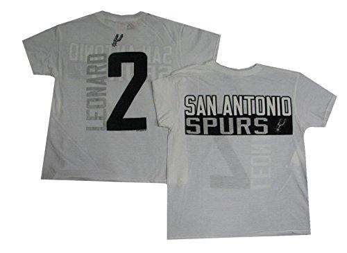 Kawhi Leonard San Antonio Spurs # 2NBA juventud vertical nombre & número camiseta, Blanco
