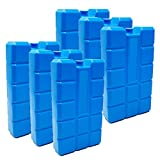 ToCi 6er Set Kühlakku mit je 400 ml | 6 Blaue Kühlelemente für die Kühltasche oder Kühlbox
