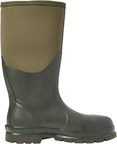 Muck Boots Unisex Erwachsene Chore Steel Toe Sicherheits-Gummistiefel, Grün (Moss Stmg), 42 EU