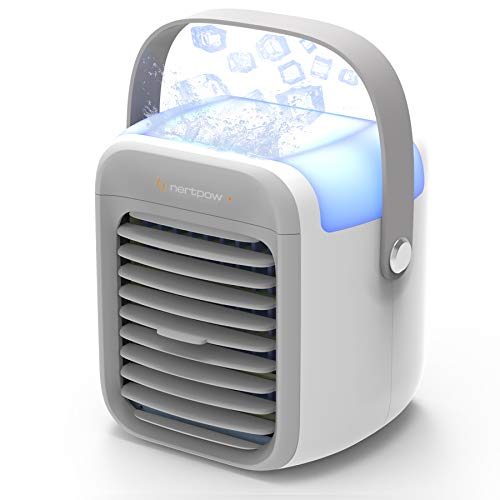 Portable Air Conditioner, Portable Cooler, Quick & Easy Way to Cool Personal Space, As Seen On TV, Suitable for Kitchen, Bedside, Tent, Baby's Room, Office and Small Room, Three Wind Level Adjustment
