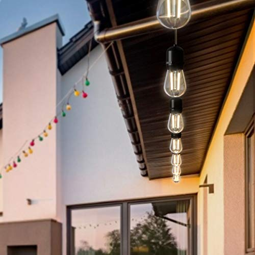 7DIPT 36FT LED Outdoor Waterproof Commercial Globe String Lights Bulbs