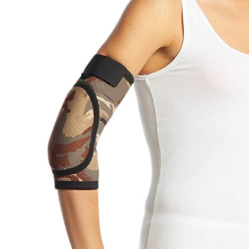 Codera acolchada de camuflaje para ambos brazos, gimnasio, correa para epiccondilitis (XL...
