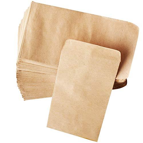 100pz Sacchetti di Carta Kraft 13x8cm Portaconfetti Semi Bustine per Confetti Confettata Gioielli Matrimonio Battesimo Natale