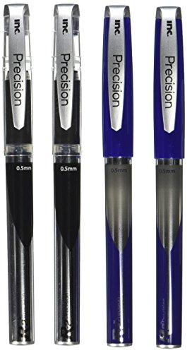 I-N-C R-2 Precision 0.5 Roller Ball Pen, 2 Blue/2 Black