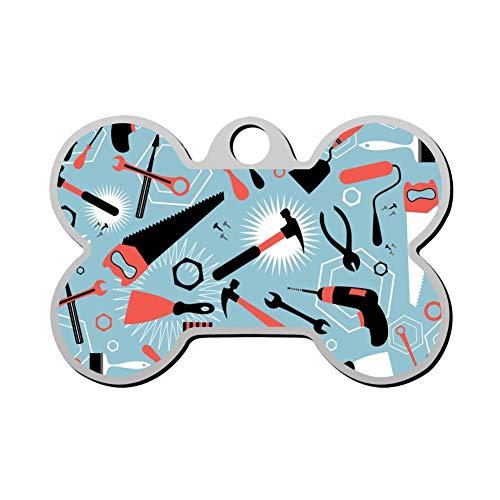 VinMea Aangepaste timmerman gereedschappen voor het repareren van huisdier ID Tag Bone Shape Gepersonaliseerde hond Tags & Cat Tags Identiteitskraag Tags