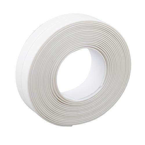 GOMYIE Dichtungsstreifen Selbstklebende wasserdichte Reparaturband Für Badewanne Bad Dusche Wc Küche Und Mehltau Abdichtung (weiß)