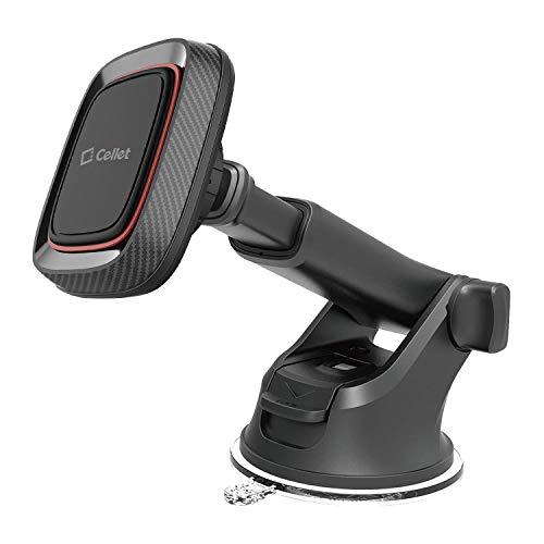 Cellet Soporte magnético para parabrisas y salpicadero de coche, soporte para teléfono, soporte de escritorio, soporte con brazo...