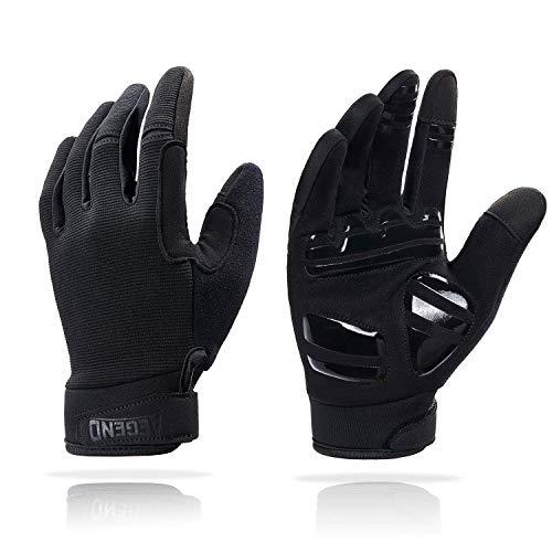 aegend Adjustable Lightweight Cycling Gloves - Touch Screen, Anti-Slip Full Finger Mountain Bike Gloves - Breathable Sports Gloves for Biking, Climbing, Hiking - Unisex Motorcycle Gloves for Men/Women