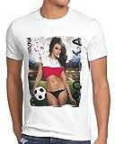 style3 La Roja 2020 Chica de Fútbol Camiseta para Hombre T-Shirt españa fútbol Spain Blanco, Talla:XL, Shirt Länderflaggen:Polonia