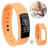 Hootracker Schrittzähler Fitness Armband Aktivitätstracker Schrittzähler Kalorienzähler Ohne Bluetooth für