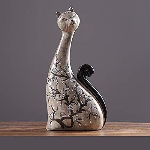ZGQA-AOQ Décorations Art Artisanat chat chambre Accueil Sculpture salon meuble TV armoire à vin