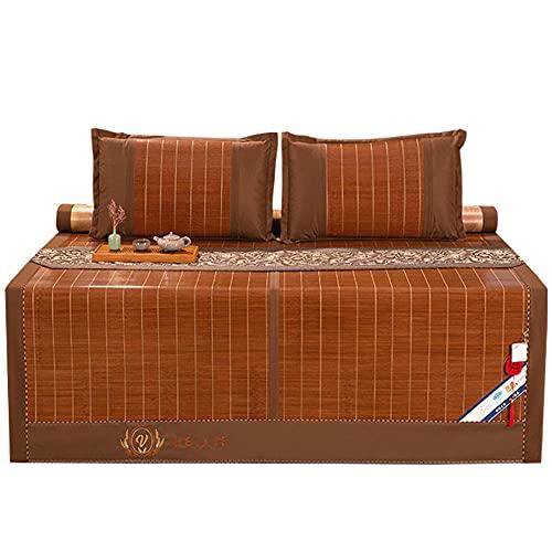 Colchoneta para Decoración Colchón, Esterilla De Bambú De Hielo, Esterilla Enfriamiento Verano Plegable para El Dormitorio De La Escuela En Casa