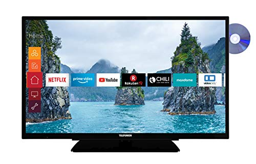Telefunken XF32G519D 80 cm (32 Zoll) Fernseher (Full HD, Triple Tuner, Smart TV, Prime Video, DVD-Player integriert, Bluetooth)