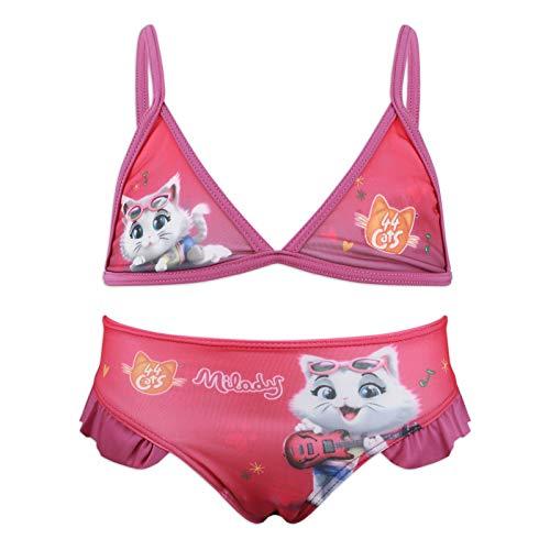 44 gatti Costume Mare Bambina Misura 3 4 5 6 Anni Estate 2020 [0012 Viola - 4-5 Anni]