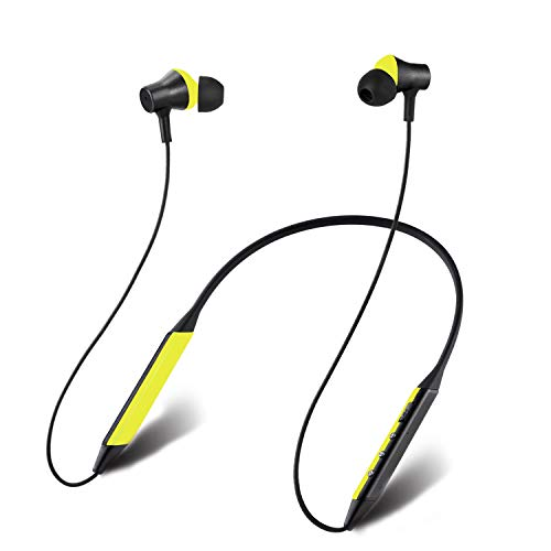 Wireless Earphones 5.0 Magnetic Earbuds with Siri Silicone Line Comfortable for Sports Built in Mic (IPX4 Waterproof Deep Bass Stereo 10-12 Hours Playtime)