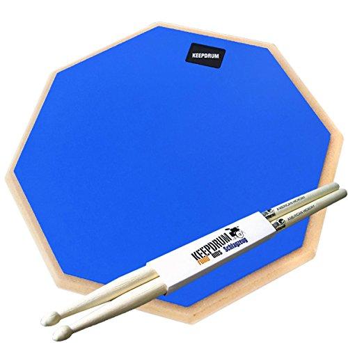 keepdrum DP-BL12 Drumpad Practice Pad Blau Übungspad 12
