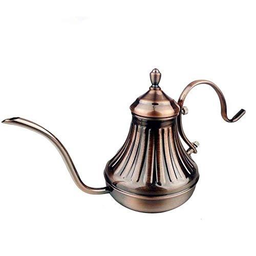 Tea Pot Tea Kettle 420Ml Bronze Stainless Steel Tea Pot Coffee Maker Latte Coffee Drip Kettle Hot Water Pot Teapot Press Pot