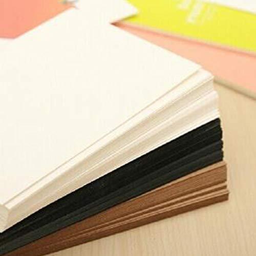 20PCS blanco kaart kraftpapier briefkaart Vintage blanco ansichtkaarten DIY handgeschilderde graffiti berichtkaart BDF99, zwart