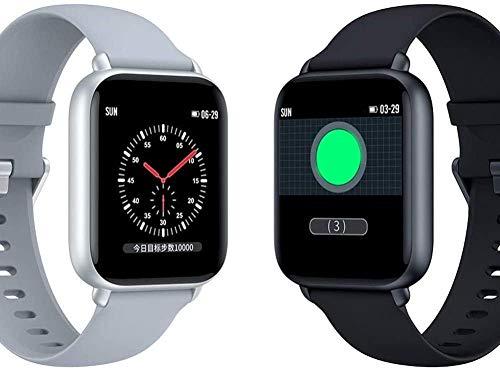 Rastreador de actividad con monitor de ritmo cardíaco, pulsera inteligente resistente al agua, con contador de calorías, podómetro, reloj para niños, mujeres y hombres (color blanco), blanco