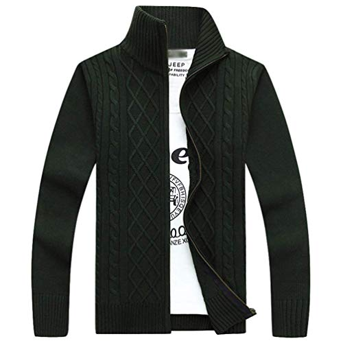 Willlly heren effen kleur met lange mouwen chique casual standaard kraag rits vest Clásico warme winter dikke jas vest gebreide jas