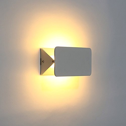 Lightess Lampada da Parete a LED 5W, Stile Moderno Applique da Parete Interni per Decorazione Camera da Letto, Soggiorno, Cucina, Colore Bianco
