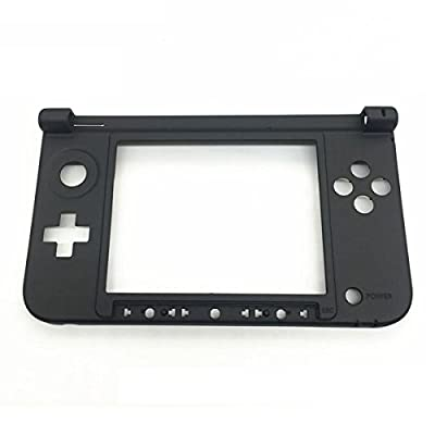 GOZAR Replacement Hinge Part Black Bottom Middle Shell Housing For Nintendo 3DS XL