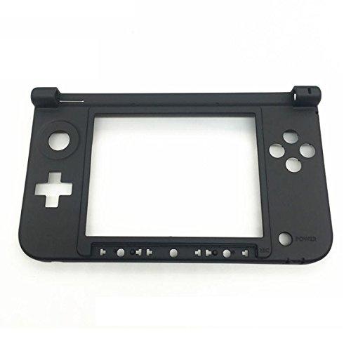 C-FUNN Reemplazo Bisagra Parte Inferior Negro Carcasa Media Shell para Nintendo 3Ds XL