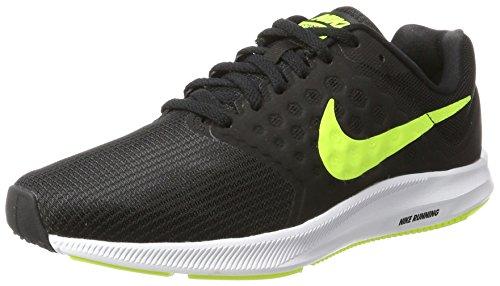 Nike Downshifter 7, Scarpe da Ginnastica Basse Uomo, Multicolore (Black/Volt/White 001), 40 EU