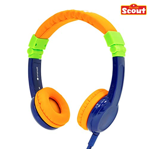 Lautstärke Reduzierende Scout BuddyPhones Kinderkopfhörer - Scout Explore, Farbe:blau/orange