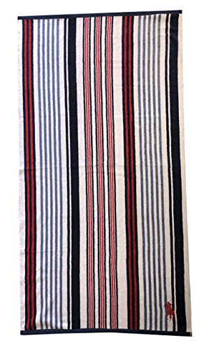 Polo Ralph Lauren Big Pony Logo Beach Towel (Multiblue/red/White)