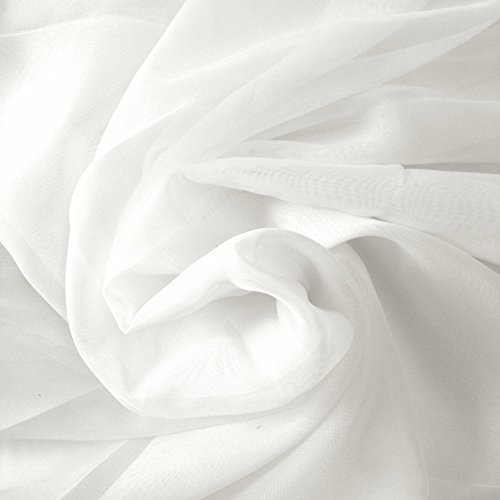 Plain Voile Cotton 5 Meter Fabric Arrow Solid Voile Fabric Garment Fabric Cloth Material Fabric (White)