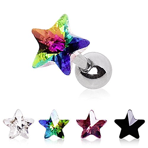 WildKlass Jewelry Women's Star Prism Earring Purple