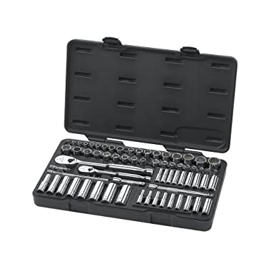 GearWrench 83000 68 Piece 1/4-Inch and 3/8-Inch SAE/Metric (Standard/Deep) Socket Set
