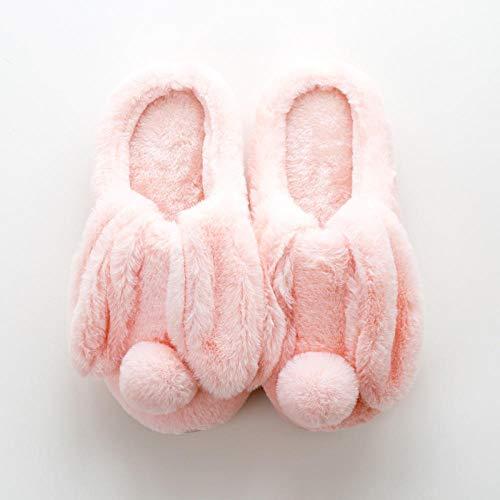 Zapatillas de Felpa Acolchadas para Interiores de Invierno,Zapatillas de algodón lindas para...