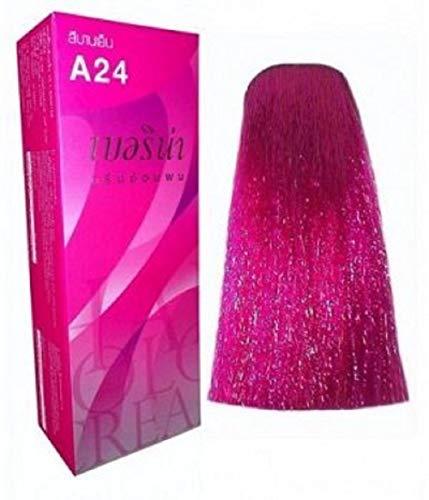 Berina Permanent Hair Dye Color Cream No. A24 Magenta.