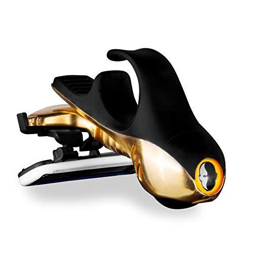 HeadBlade S4 Moto Goldfinger Rasiermesser für Herren, limitierte Auflage, revolutionäre Dual-Aktiv-Federung