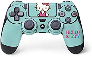Skinit Decal Gaming Skin for PS4 Controller - Officially Licensed Sanrio Hello Kitty Blue Background Design