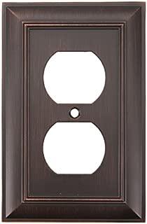 Allen + Roth Single Duplex Wall Plate #0141500 Oil-Rubbed Bronze Finish