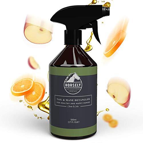 HORSELY Spray detergente e districante per criniera e Coda Cavallo 500 ml | Elimina i Nodi e Lo Sporco | Pulizia a Secco per Pelo Morbido e setoso