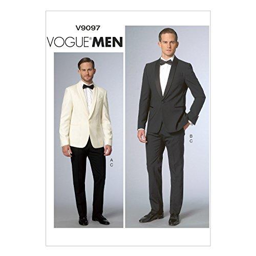 Vogue Patterns V9097MUU Men's Jacket and Pants Sewing Template, Size MUU (34-36-38-40)