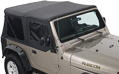 King 4WD Premium Replacement Soft Top SEAL limited product Black Upper with D Doors Fixed price for sale -