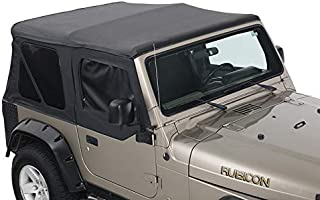 King 4WD Replacement Soft Top with Upper Doors - Black Diamond - TJ 1997-2006 Jeep Wrangler