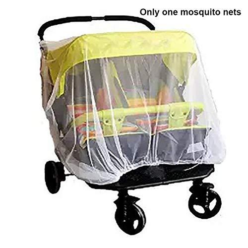 WYCYZJ Baby Kid Buggy Klamboe Opvouwbare Veilige Mesh Kinderwagen Insectenbescherming Volledige Cover Wieg Dubbele Kinderwagen Accessoires