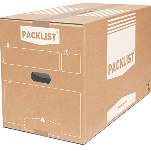 PACKLIST 10 Cajas Cartón Mudanza Grandes 550x350x380mm Personalizables + APP - Cajas...