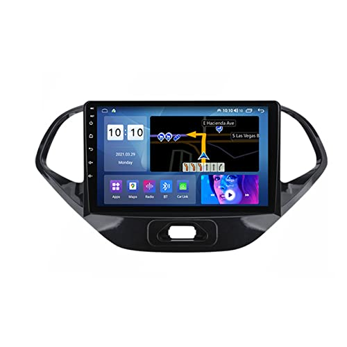 ADMLZQQ Autoradio 2 DIN Android 9 Pollici for Ford Figo 2015-2018 Car Radio Touchscreen Eingebaut Carautoplay GPS RDS Backup Camera Plug And Play 5G WiFi SWC Support DVR/TPMS/Dab+/OBDII,M200s