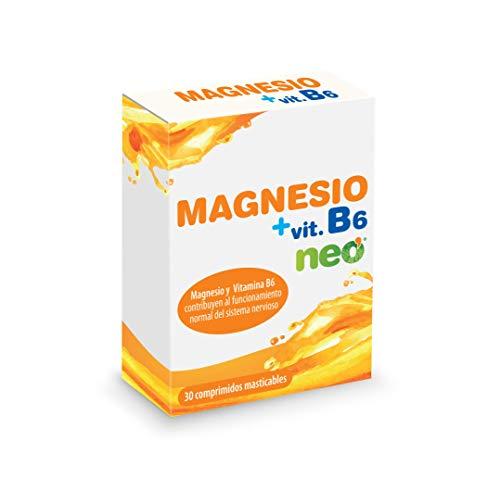 NEO   Magnesio + Vitamina B6-30 Cápsulas   Ayuda a Reducir el Cansancio y la Fatiga   Aporta Fuerza y Vitalidad   Refuerza Músculos y Nervios   Sin Alérgenos ni GMO   Tomar 1 o 2 Cápsulas al Día