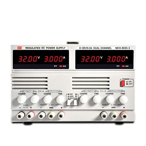 HEQIE-YONGP Wissenschaftliche Meter MCH-303D-II Geregeltes Doppel-Gleichstromnetzteil 30 V 3A, linear einstellbar zum Laden von Batterien Instrument (Size : 220V)
