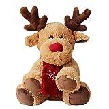 Kylewo Peluche Alce, Peluche Alce Marrone Peluche Peluche Decorazioni di Natale, Natale, Regali di Capodanno per Bambini